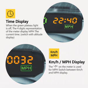 Image 4 - AUTOOL X100 GPS Speedometer Old Car Head UP Display Multifunction Digital Speed Altitude Meter Non OBD Automotive Electronic HUD
