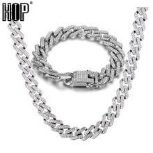 Хип хоп 15 мм ожерелье с микро закрепкой и кубическим цирконием