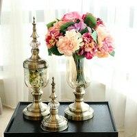 Vase Decoration Glass Transparent Living Room TV Cabinet Dining Table Flower Arrangement Home Decoration Creative Decoration