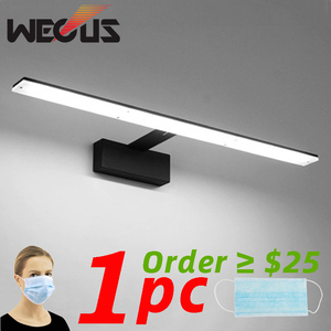 Nordic led bathroom lamp black/white mirror light acrylic metal fixtures barbershop hotel toilet cabinet wall lamp 42cm 9W