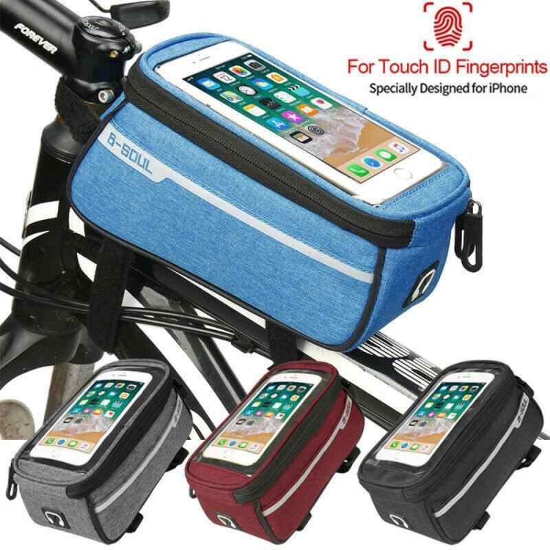 Bike Bicycle Frame Pannier Front Tube Pouch Bag Mobile Phone Holder Waterproof