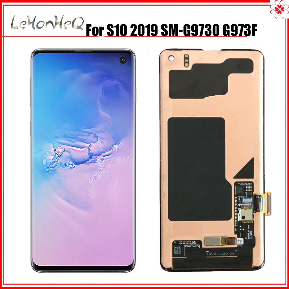 6.1'' AMOLED <font><b>LCD</b></font> for <font><b>SAMSUNG</b></font> <font><b>S10</b></font> <font><b>LCD</b></font> G973 Display G973F Touch <font><b>Screen</b></font> Digitizer For <font><b>SAMSUNG</b></font> Galaxy <font><b>S10</b></font> Plus <font><b>LCD</b></font> G975 G975F image