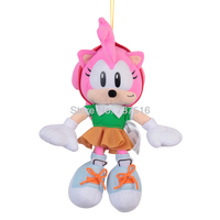 New Anime Pink Naughty Cute Amy Rose Plush Soft Doll Stuffed Animal Children Christmas Toys Kids 11 Inch Gifts