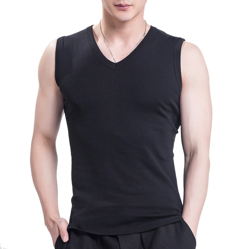 Solid Color Men's Tank Top 2020 New Fashion Men Summer Tank Tops Breathable Slim Sleeveless Solid Man Brand Tops