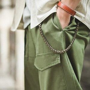 Image 5 - Pantalones militares holgados estilo militar Retro Maden p37 clásico recto Bolsillo grande pantalones casuales hombre