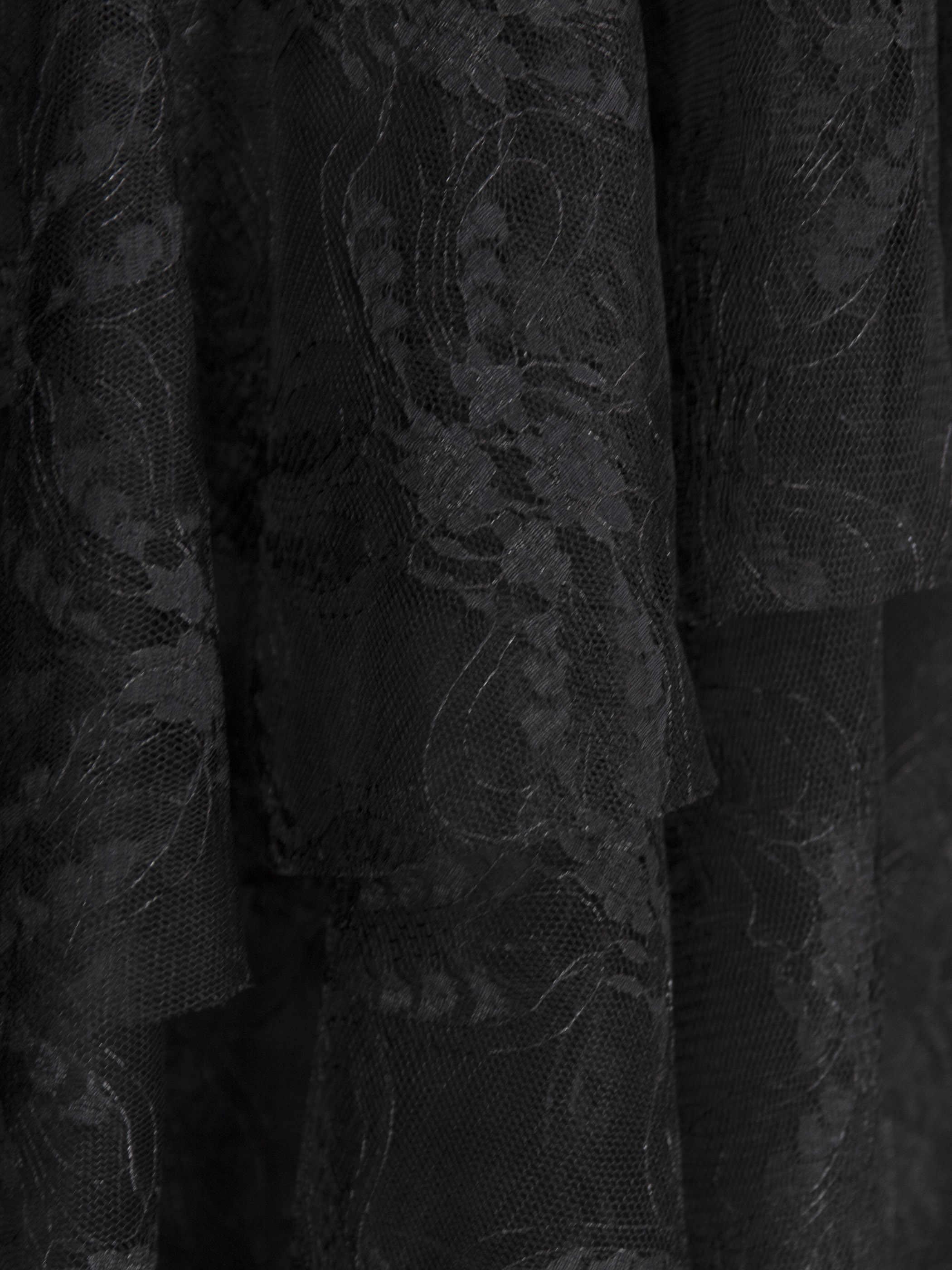 Rosetic femmes Sexy robe en dentelle noir gothique volants asymétrique maille voir à travers élégant dames été Club fête robes Midi