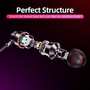 Image 3 - ANMONE auriculares intrauditivos con cable, dispositivo deportivo de 3,5mm con micrófono y estéreo de graves para iphone 7, 11 pro y xiaomi