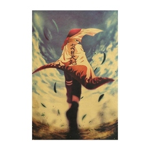 Cartoon Anime Naruto Vintage Kraft Paper Classic Nostalgia Anime Poster Home Decor Wall Sticker