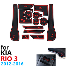 Anti Slip Rubber Cup Cushion Door Groove Mat for KIA RIO 3 K2 1.6L 2012~2016 Accessories Car Stickers mat for phone 2013 2015