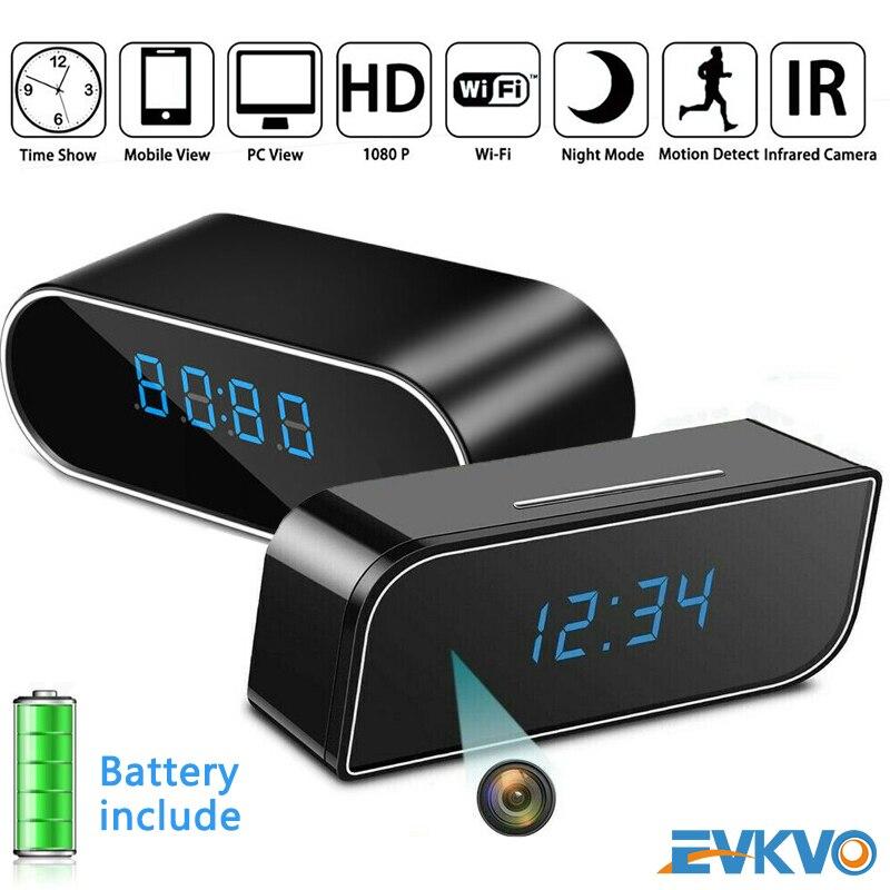 Evkvo z10 relógio wifi câmera mini, wi-fi, câmera, tempo, alarme, p2p, ip/ap, segurança, visão noturna, movimento câmera remota do sensor