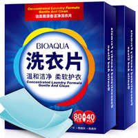 120PCS New Formula Laundry Detergent Nano Super Concentrated Washing Soap Gentle Washing Powder Sheets Laundry Cleaning Products