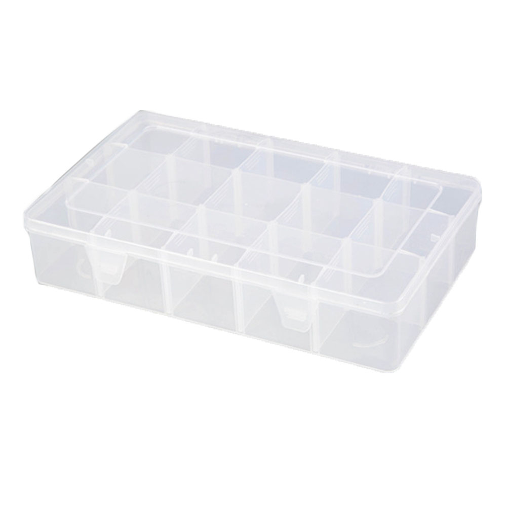 15 Grids Multifunction Art Supplies DIY Washi Tape Office Stationery Gift Organizer Detachable Crafts Storage Box Plastic