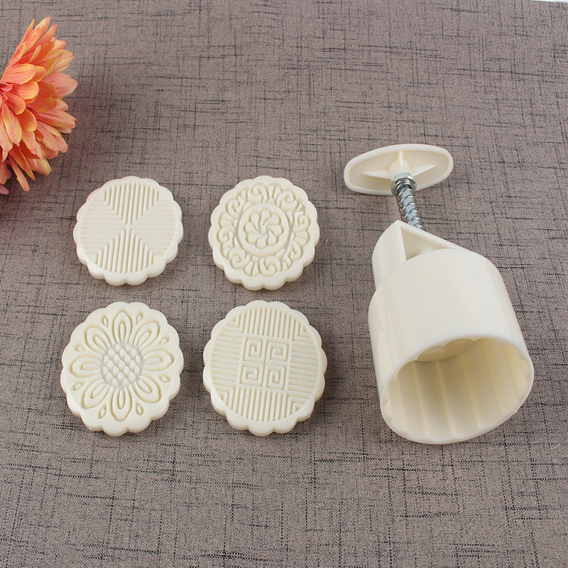Cold Cover Hand Pressure Mooncake Mold 100G Circle Mung Bean Pastry Mold Qingming Dumpling Mould Manufacturers