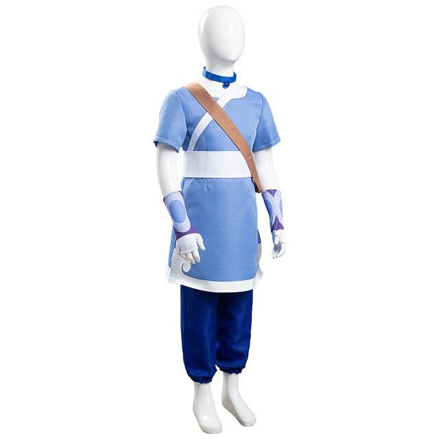Avatar o último airbender katara cosplay trajes criança crianças halloween carnaval ternos