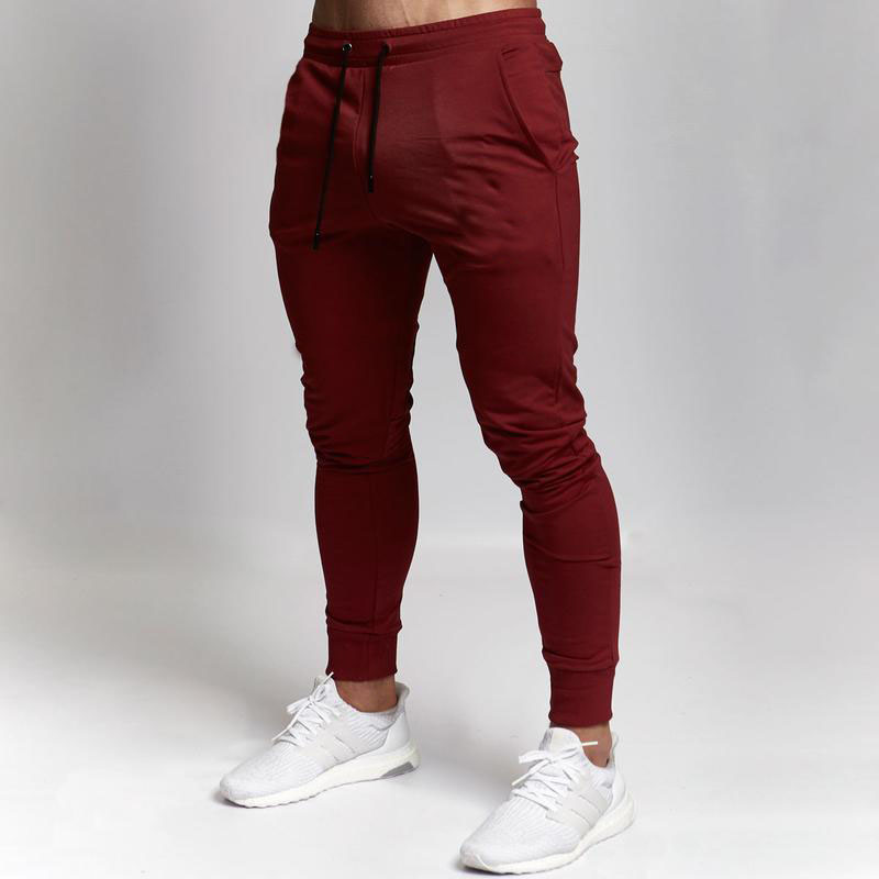 Men's Pants Brand Gym Casual Solid Color Drawstring Sports Pants Pantalon Homme Jogger Hombre Streetwear Men's Trousers