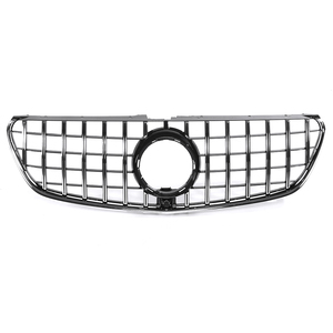 Image 2 - Chrome/Black W447 For GTR Style Grille Grill Car Front Bumper GT Grill Grille For Mercedes For Benz V Class W447 V250 V260 15 18
