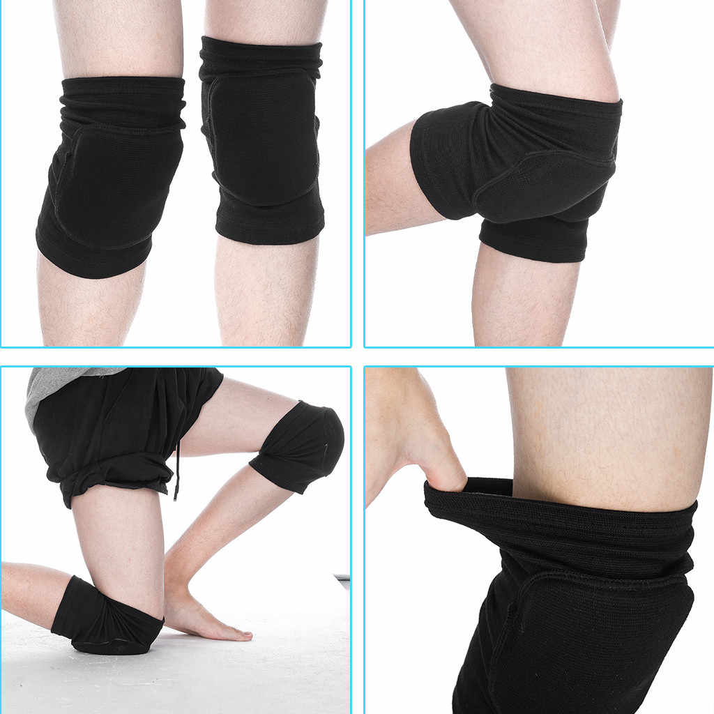 2Pc Knee Pads Joint Support Sports Shock Absorption Knee Protector Safety Guard