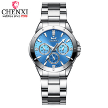 CHENXI Womens Fashion Steel Watches Simple style Females Quartz-watch Ladies Luxurious Brands Wristwatch Relojes Mujer