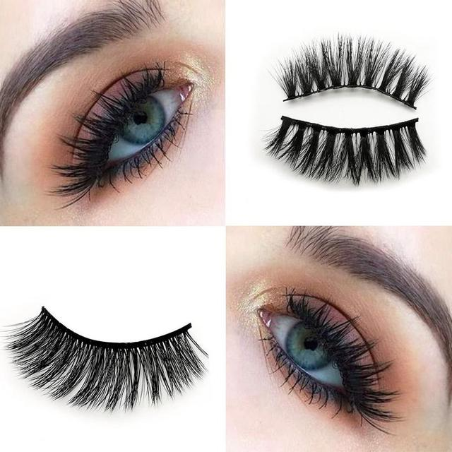 5 Pairs Eye Lashes Hand Made Natural fake eyelashes 3d Mink Lashes Soft Dramatic Eye Lashes For Makeup Cilios Mink Maquiagem 2