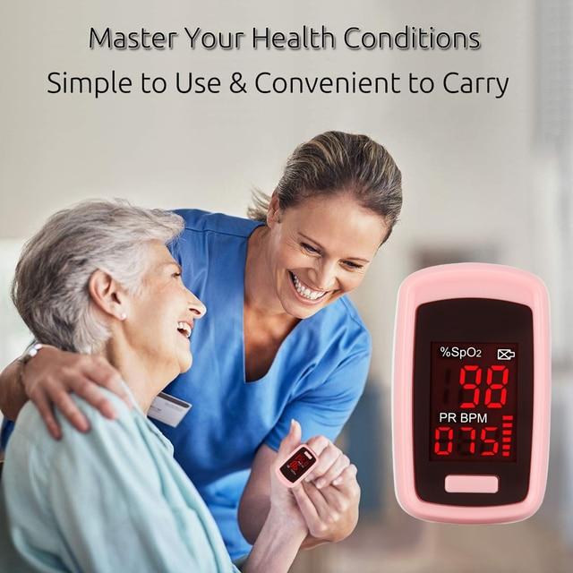 OLIECO Finger Pulse Oximeter PR SpO2 Meter Accurate Blood Oxygen Saturation De Dedo Pulso Oximetro Home family Pulse Oxymeter 2