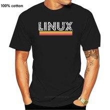 Men Linux Ubuntu Unix Linus Computer T Shirts Cotton Tops Vintage Short Sleeve Round Collar Tees Printed T-Shirts