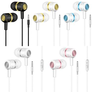 Sports Gaming Headset Headphones wired Earphone pause/play For Huawei xiaomi Honor 3.5mm earbuds wire Headset for smartphone image
