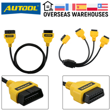 AUTOOL OBD2 Extension Cable OBD Adapter Extend Obdii Connector For Launch IDIAG Easydiag Pro Pro3 V+ GOLO Mdiag ELM327 AL519