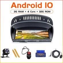 Android10 para bmw série 5/3 e60 e61 e62 e63 e90 e91 cic ccc carro 4 núcleo 2gb 32gb jogador multimídia unidade de cabeça navegação gps
