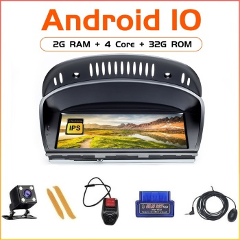 Android10 For BMW Series 5/3 E60 E61 E62 E63 E90 E91 CIC CCC Car 4Core 2GB 32GB Multimedia Player GPS Navigation Head Unit image