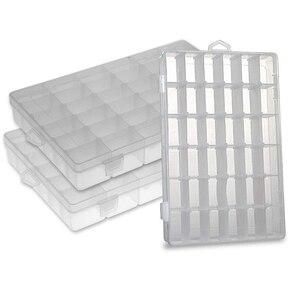 Пластиковая коробка для хранения с 36 сетками, органайзер для ювелирных изделий, контейнер, коробка для бисера, коробки для рыболовных снаст...