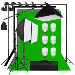 Photography Background Frame Support Softbox Lighting Kit Boom Arm Light Stand 1.6*3m Backdrop Cloth Photo Studio Accessories