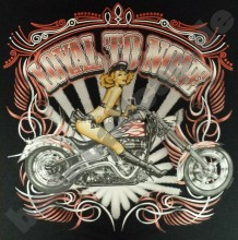 T-Shirt #643 LOYAL TO NONE OLDSCHOOL HOTROD Dragster Pin Up V8 Biker(China)