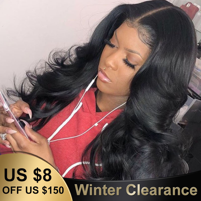 13x6 Lace Front Human Hair Wigs For Women 250% Density Brazilian Body Wave 360 Lace Frontal Wigs Pre Plucked Baby Hair You May