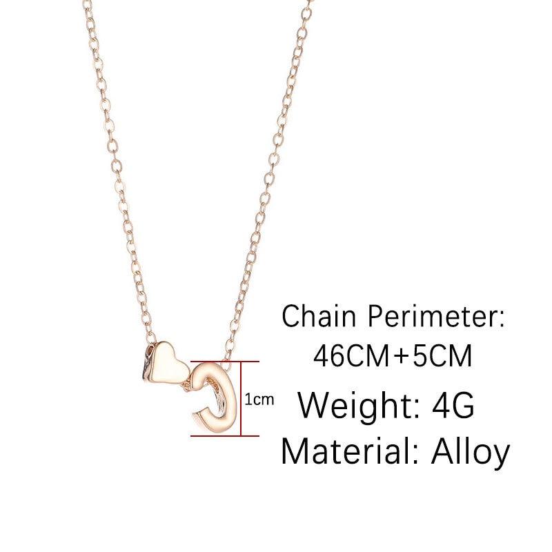 SUMENG moda piccolo cuore delicato collana iniziale oro argento colore lettera nome collana girocollo per regalo gioielli ciondolo donna 2