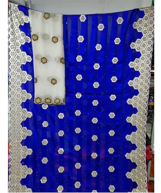 아프리카 나이지리아 레이스 패브릭 2019 고품질 실크 패브릭 돌 리본 실크 organza 직물 드레스 7 야드