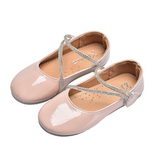 New Baby Girls Leather Shoes Kids Princess Shoes Girls Soft bottom Single Shoes For baby girl Pink Yellow Light blue 3 4 5 6 7T yttoo yellow 7t