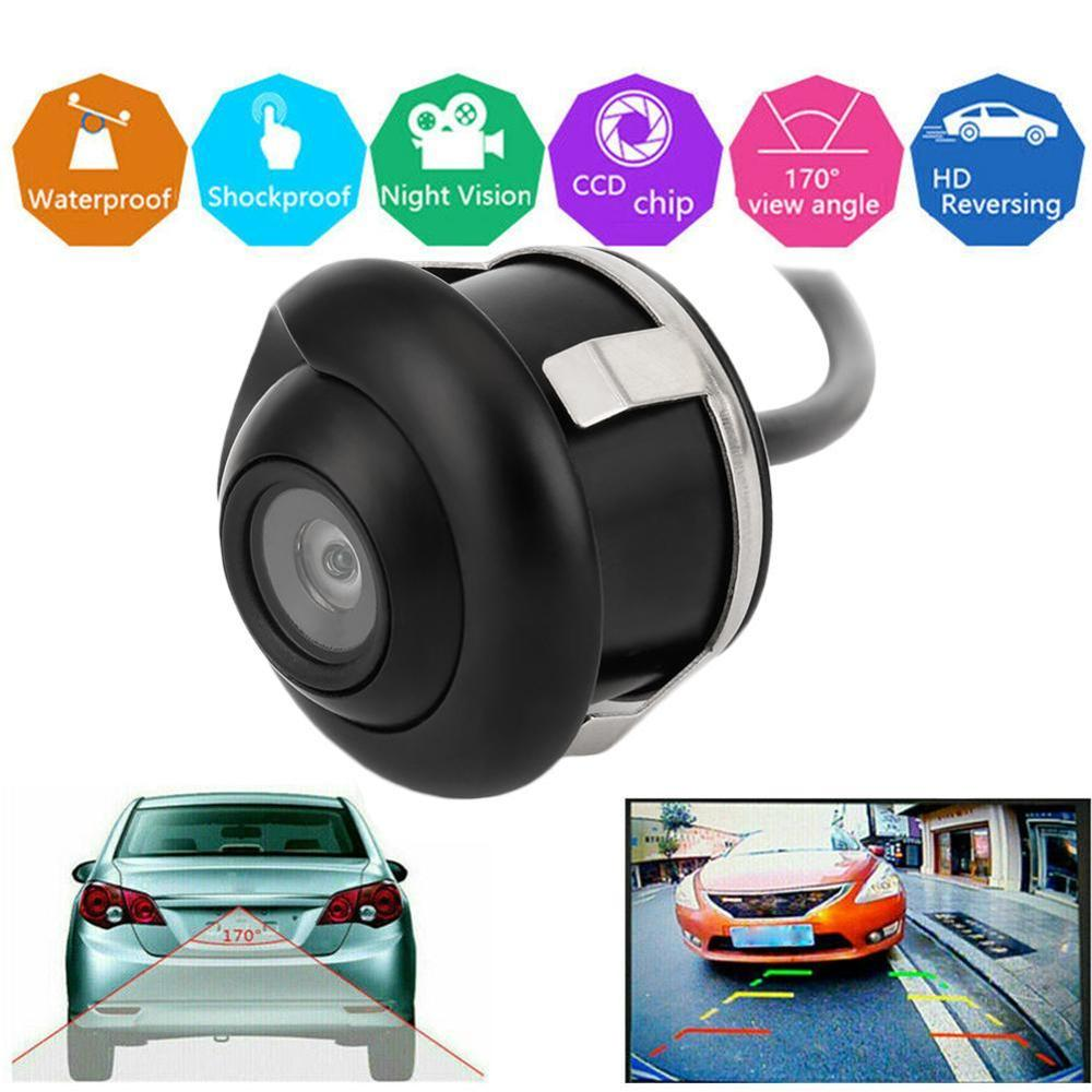 NEW 360 Degree HD CCD Car Rear View Reverse Night Vision Backup Parking Camera IP67 Waterproof Wired Vehicle Camera