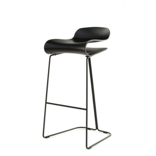 Nordic Bar Chair Stainless Steel Bar Chair Home High Stool Simple Bar Chair Cafe High Chair Creative Modern