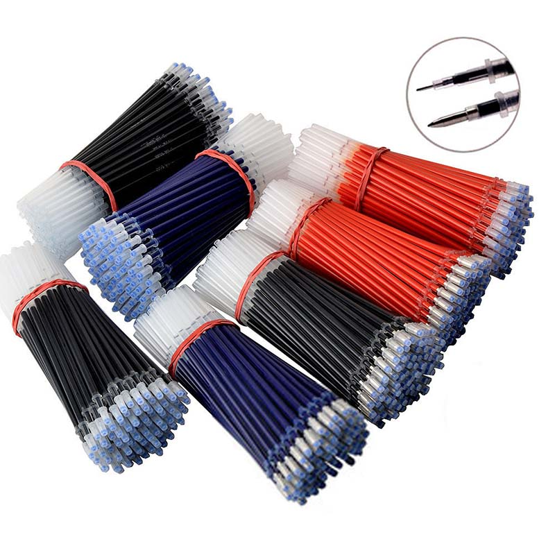 0.38/0.5mm Office Gel Pen Refill Black Blue Red Replaceable Pen Core Refills For School Writing Stationery 13cm Length Universal