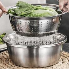 3 шт./компл. Терка сито моющая чаши набор овощерезка Нержавеющаясталь Кухня инструмент для Замес теста салат T-Q