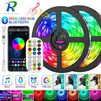 Bluetooth Led Streifen 5M-30M 5050/2835 LED Streifen Licht led-band rgb led diode band wasserdicht Controller power adapter für Home