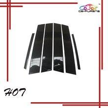 Adicionar estilo brilho preto 100% real da fibra do carbono da janela do carro pilar pós guarnição para alfa romeo stelvio suv 2017-2019 -6 peças