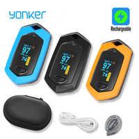 Oxymètre portatif de pouls de doigt de Sport médical de Yomker données en temps réel Saturation d'oxygène de sang de sport Rechargeable SPO2