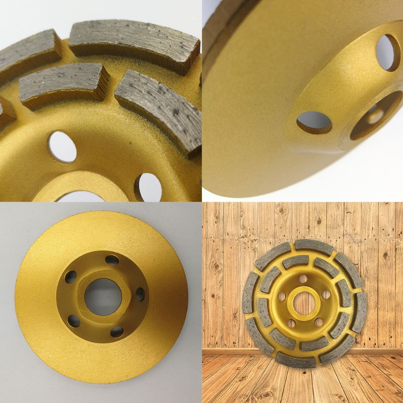 """Hot 4/"""" Diamond Grinding Cup Wheel Concrete Angle Segment Grinder 100mm Gold"""