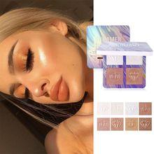 все цены на Highlighter Illuminator Makeup Glow Kit 4 Colors Face Brightener Contouring Liquid Highlighter Powder Palette Bronzer High Gloss