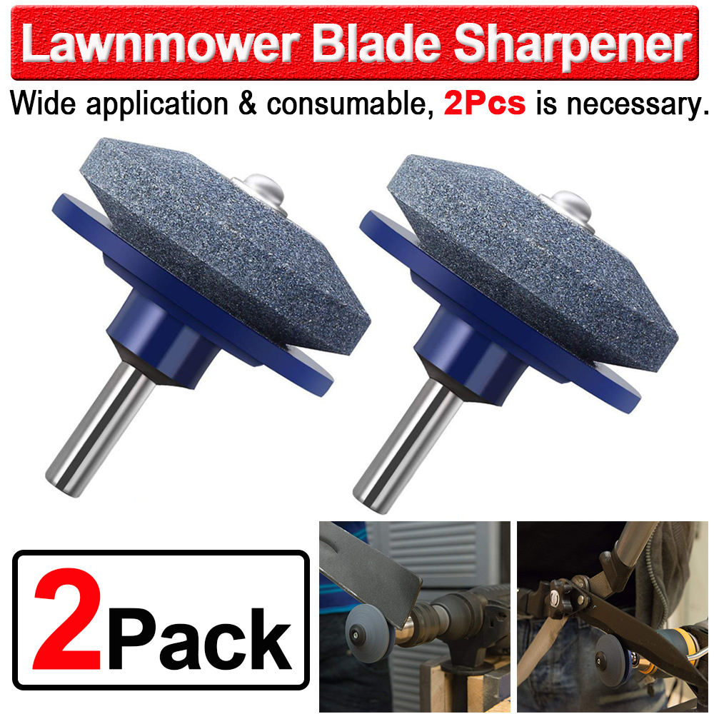 2Pcs Universal Lawnmower Blade Sharpener Grinding Garden Tool Rotary Power Drills 50mm Faster Blade Sharpener Machine D35