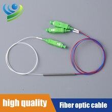 FBT Optical Splitter SC APC 1X2 Fiber Optic Splitter Optical Coupler Singlemode Simplex Steel Pipe