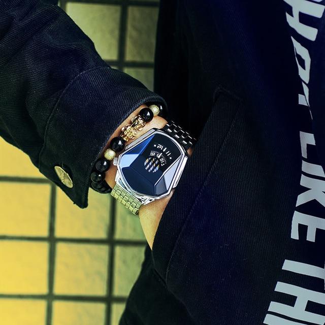 Diamond Style Quartz Watch Waterproof Fashion Steel Band Quartz Watch for Men Women K2 1