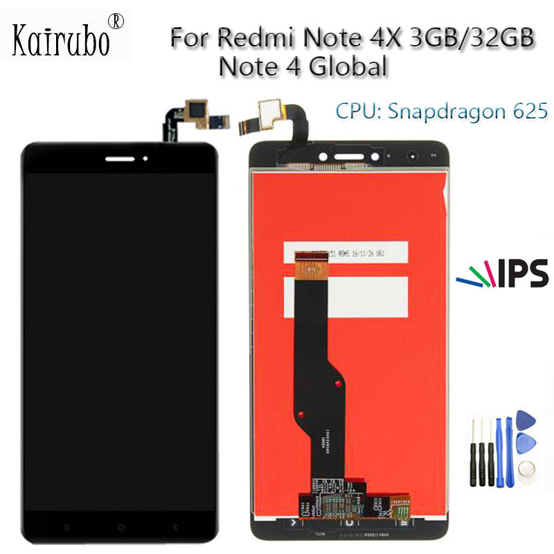 For Xiaomi Redmi Note 4X LCD Display Screen Touch Screen digitizer assembly Note 4X 3GB RAM 5.5 inch Replacement Repair Parts