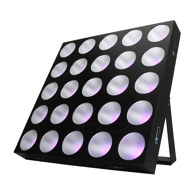 2pcs LED Blinder Matrix 25x30W RGBW 4in1 DMX Stage Effect Lighting DJ Controller Music Strobe Disco Home Party Concert Ball Hall